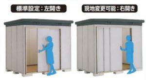 イナバ物置のナイソーの扉