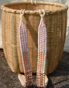 竹細工の背負いかご