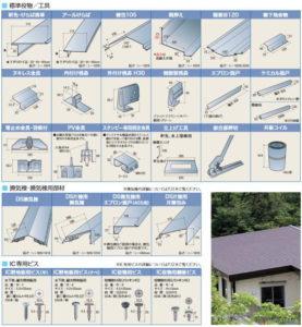稲垣商事の金属屋根材のスタンビーの標準役物